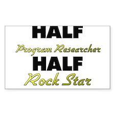 Half Program Researcher Half Rock Star Decal