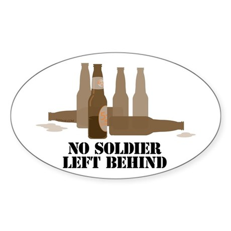 Fallen Soldier/Beer Drinker's Oval Sticker