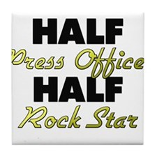 Half Press Officer Half Rock Star Tile Coaster