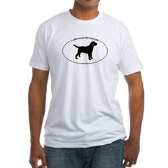 Labrador Oval Text Fitted T-Shirt