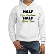 Half Pipe Engineer Half Rock Star Hoodie