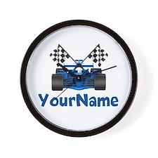 Race Car Personalized Wall Clock