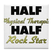 Half Physical Therapist Half Rock Star Tile Coaste