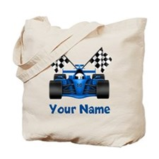 Race Car Personalized Tote Bag
