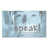 Speak Rectangle Decal