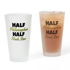 Half Philosopher Half Rock Star Drinking Glass