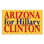 Arizona for Hillary Clinton Rectangle Sticker