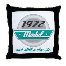 1972 Birthday Vintage Chrome Throw Pillow