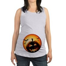 Jack O'Lantern Maternity Tank Top