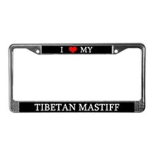 Love Tibetan Mastiff License Plate Frame