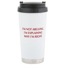 IM-NOT-ARGUING-OPT-RED Travel Mug