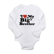I Love My Big Brother Long Sleeve Infant Bodysuit