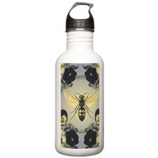 MODERN VINTAGE french pansies and bee Water Bottle