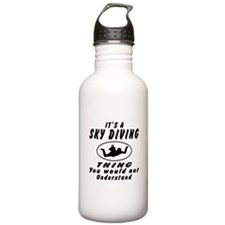 Sky diving Thing Designs Water Bottle