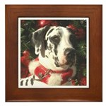 Holiday Harl Tree Framed Tile