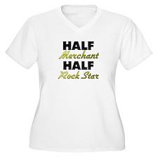 Half Merchant Half Rock Star Plus Size T-Shirt