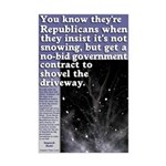 Republican Snow Job Poster 11x17