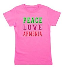 Peace Love Armenia Girl's Tee