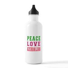 Peace Love Azerbaijan Water Bottle