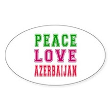 Peace Love Azerbaijan Decal