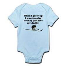 Play Hockey Like My Daddy Body Suit