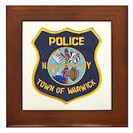 Warwick Police Framed Tile