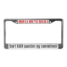 """Commitment"" License Plate Frame"