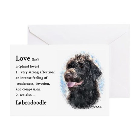 Labradoodle Gifts Greeting Cards (Pk of 10)