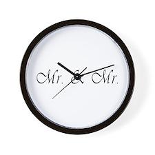 Mr. & Mr. - Gay Marriage Wall Clock