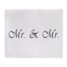 Mr. & Mr. - Gay Marriage Throw Blanket