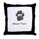 Real Bobcat Track Throw Pillow