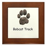 Real Bobcat Track Framed Tile