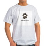 Real Bobcat Track Ash Grey T-Shirt