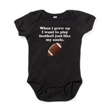 Play Football Like My Uncle Baby Bodysuit