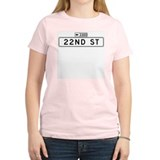 22nd St., San Francisco - USA Women's Pink T-Shir