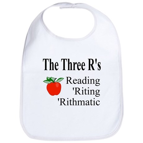 The Three R's Bib