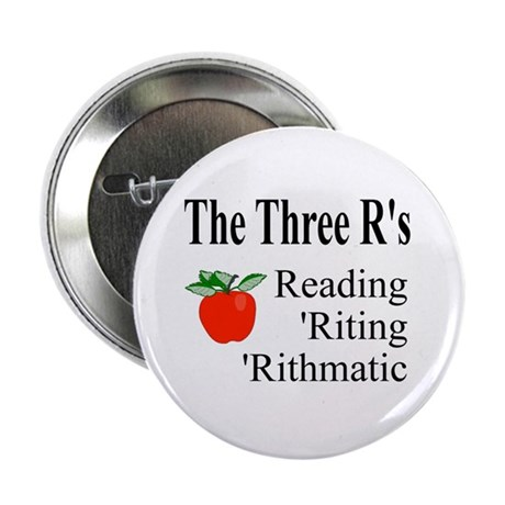 "The Three R's 2.25"" Button (100 pack)"