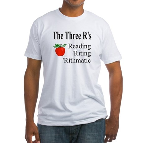 The Three R's Fitted T-Shirt