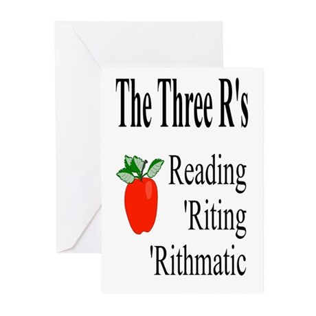 The Three R's Greeting Cards (Pk of 10)