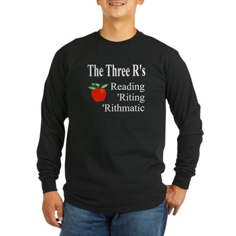 The Three R's Long Sleeve Dark T-Shirt