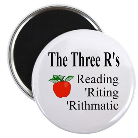 "The Three R's 2.25"" Magnet (100 pack)"