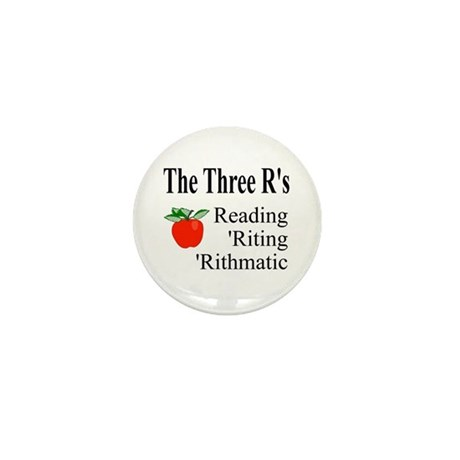 The Three R's Mini Button (100 pack)