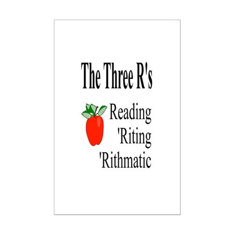 The Three R's Mini Poster Print