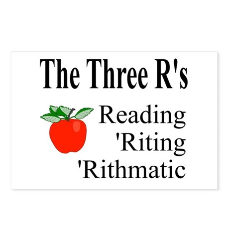 The Three R's Postcards (Package of 8)