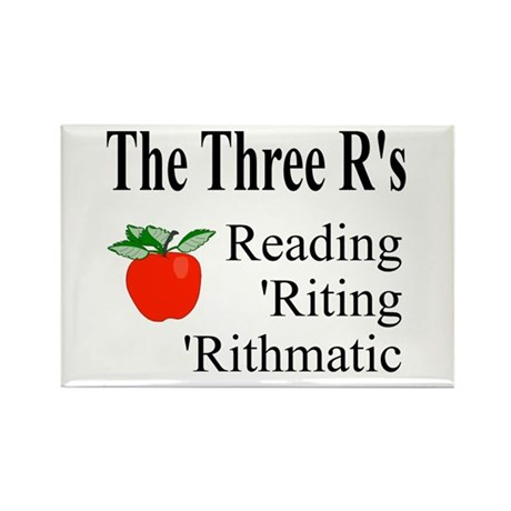 The Three R's Rectangle Magnet