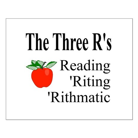 The Three R's Small Poster