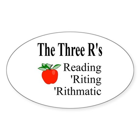 The Three R's Oval Sticker