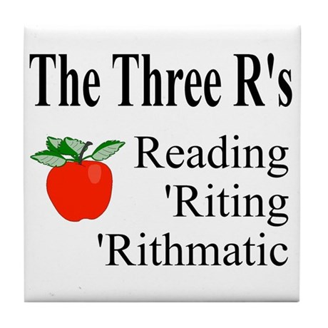 The Three R's Tile Coaster