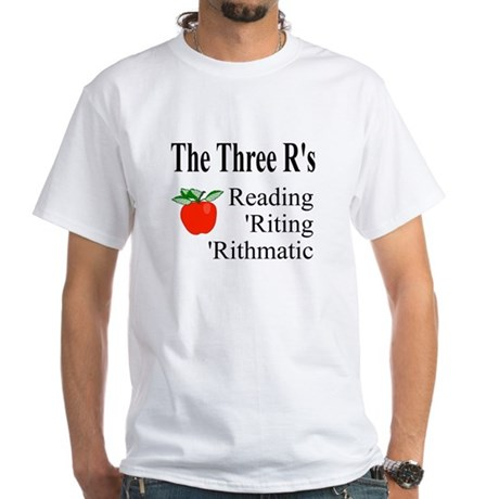 The Three R's White T-Shirt