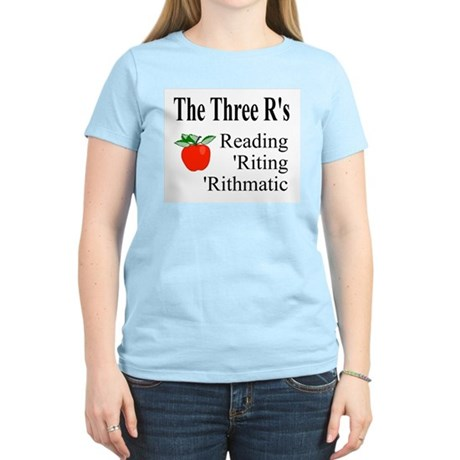 The Three R's Women's Pink T-Shirt